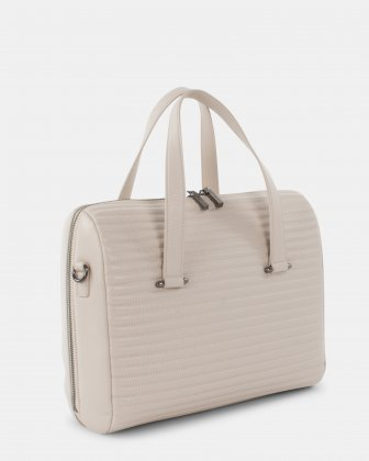 VIBRATO - LEATHER SATCHEL BAG - VANILLA Céline Dion