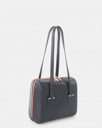 TRIAD - Medium Tote bag with zipper closure - Navy Céline Dion
