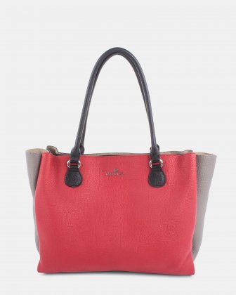 ADAGIO - LEATHER TOTE BAG - RED COMBO Céline Dion