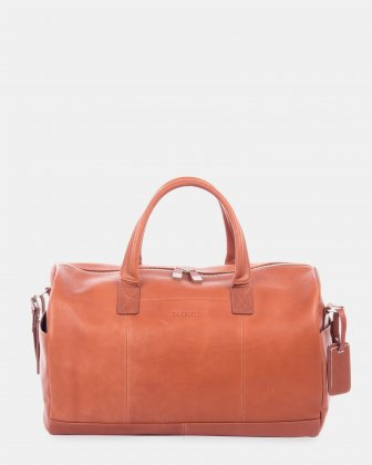 SARTORIA - Duffle bag with dual zippers main compartment - Cognac Bugatti