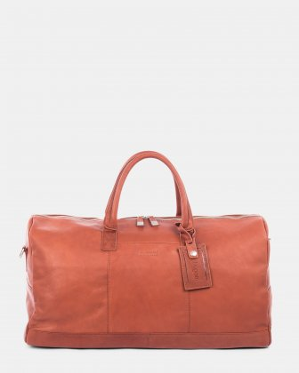 SARTORIA - Large duffle bag with dual zippers main compartment - Cognac Bugatti