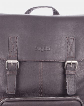 SARTORIA - Multifunctional pockets LEATHER Backpack FOR 15.6 IN LAPTOP - BROWN Bugatti