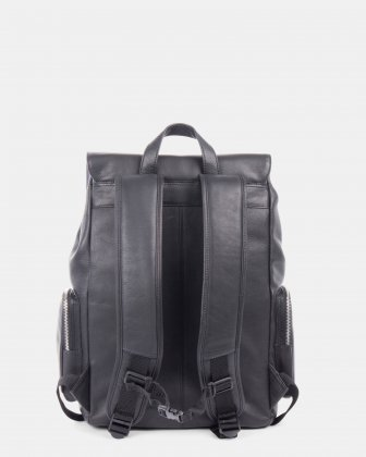 SARTORIA - Multifunctional pockets LEATHER Backpack FOR 15.6 IN LAPTOP - Black - Bugatti