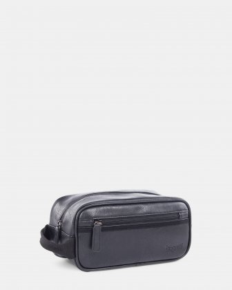 VALENTINO - Toiletry bag with handle and Inside wet pocket - black Bugatti