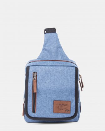 Mouflon - Wander Sling bag with zipper closure - Indigo Blue Mouflon
