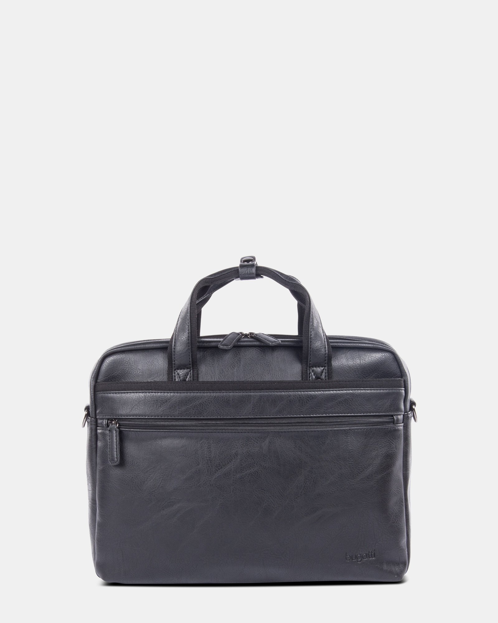 """Valentino - briefcase for 15.6"""" laptop with Removable and adjustable shoulder strap - Black  - Bugatti - Zoom"""