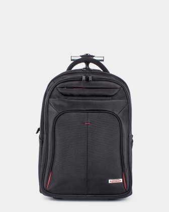 Purpose – Backpack on Wheels FOR 15.6 IN LAPTOP AND RFID PROTECTION - BLACK Swiss Mobility