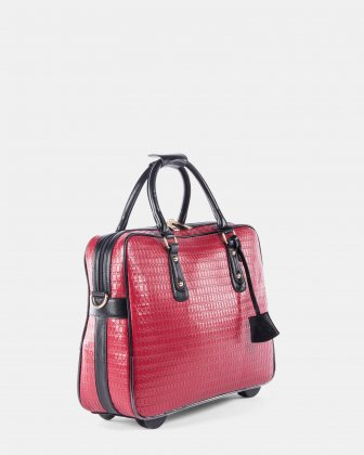 "EMMA - Ladies bag on wheels for 17.3"" laptop - Red Bugatti"