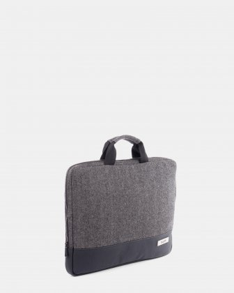 "Matt -  laptop sleeve up to 15,6"" with Zip main compartment - grey/black Bugatti"