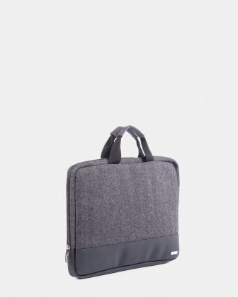 "Matt -  laptop sleeve up to 15,6"" with Zip main compartment - grey/black - Bugatti"
