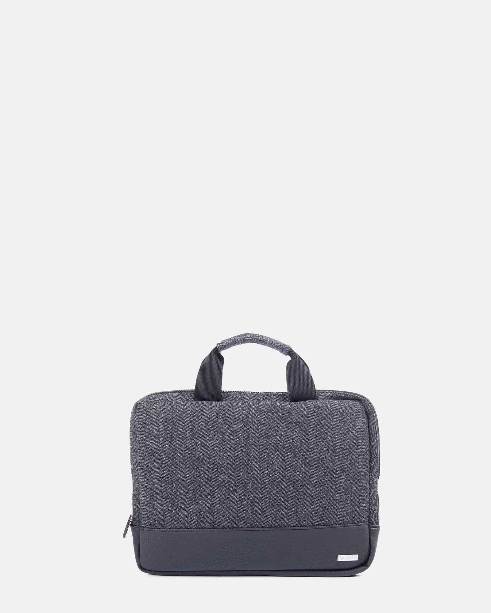 "Matt - Sleeve for 15.6"" laptop  with carry handles - Grey/Black - Bugatti - Zoom"
