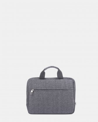 "Matt - Sleeve for 15.6"" laptop  with carry handles - Grey/Black Bugatti"