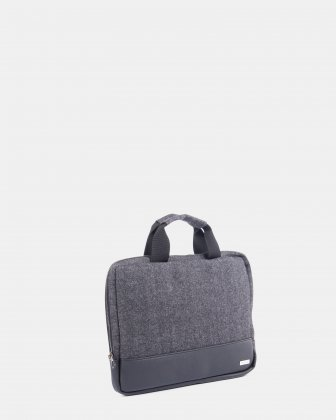 "Matt - Sleeve for 15.6"" laptop  with carry handles - Grey/Black - Bugatti"