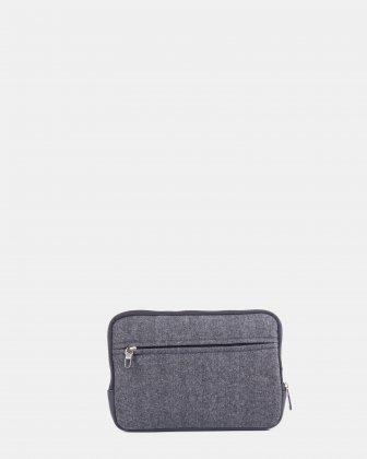 Matt - Tablet sleeve with carry handles - Grey/Black - Bugatti