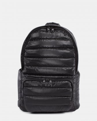 Dynamics - Backpack in Puffer quilted nylon - Black Céline Dion