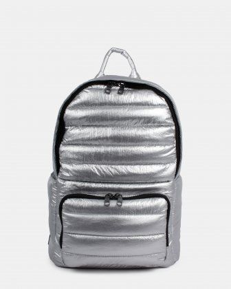 Dynamics - Backpack in Puffer quilted nylon - Silver Céline Dion