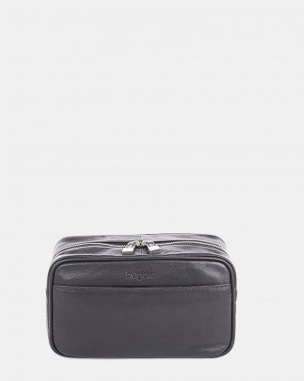 Sartoria – Leather Toiletry Case  Black Bugatti