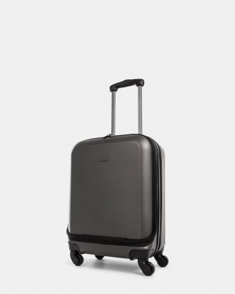 "CHICAGO - Lightweight Hardside Carry-on with 17.3"" laptop compartment - Charcoal Bugatti"