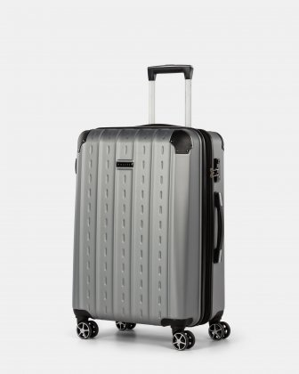 New York - Lightweight Hardside Luggage 24'' with TSA lock - Silver Bugatti