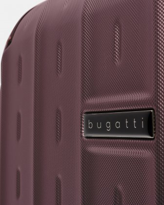 New York - Lightweight Hardside Luggage 24'' with TSA lock - Red Bugatti