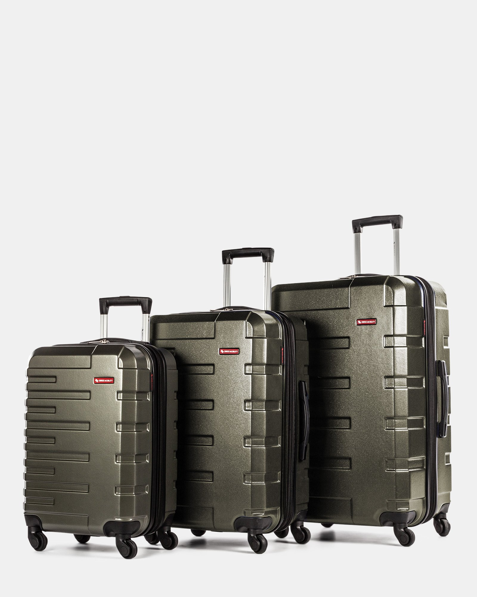 Quad – 3-Piece Hardside Luggage Set - Swiss Mobility - Zoom