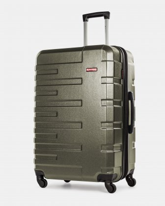 Quad  - Lightweight Hardside Luggage 28'' with Spinner wheels - Olive  Swiss Mobility