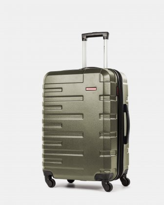 Quad - Lightweight Hardside Luggage 24'' with Spinner wheels - Olive Swiss Mobility