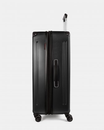 Ember - Lightweight Hardside Luggage 28'' with double spinner wheels (8 wheels) - Black - Swiss Mobility