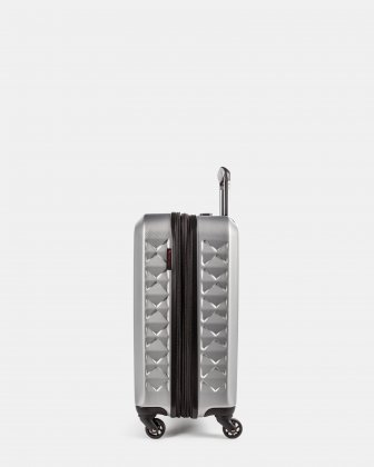 Ridge - Lightweight Hardside Carry-on with Spinner wheels - Silver Swiss Mobility