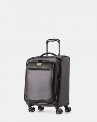 "Boston - Lightweight Softside Carry-on with 15.6"" laptop compartment - Charcoal Bugatti"