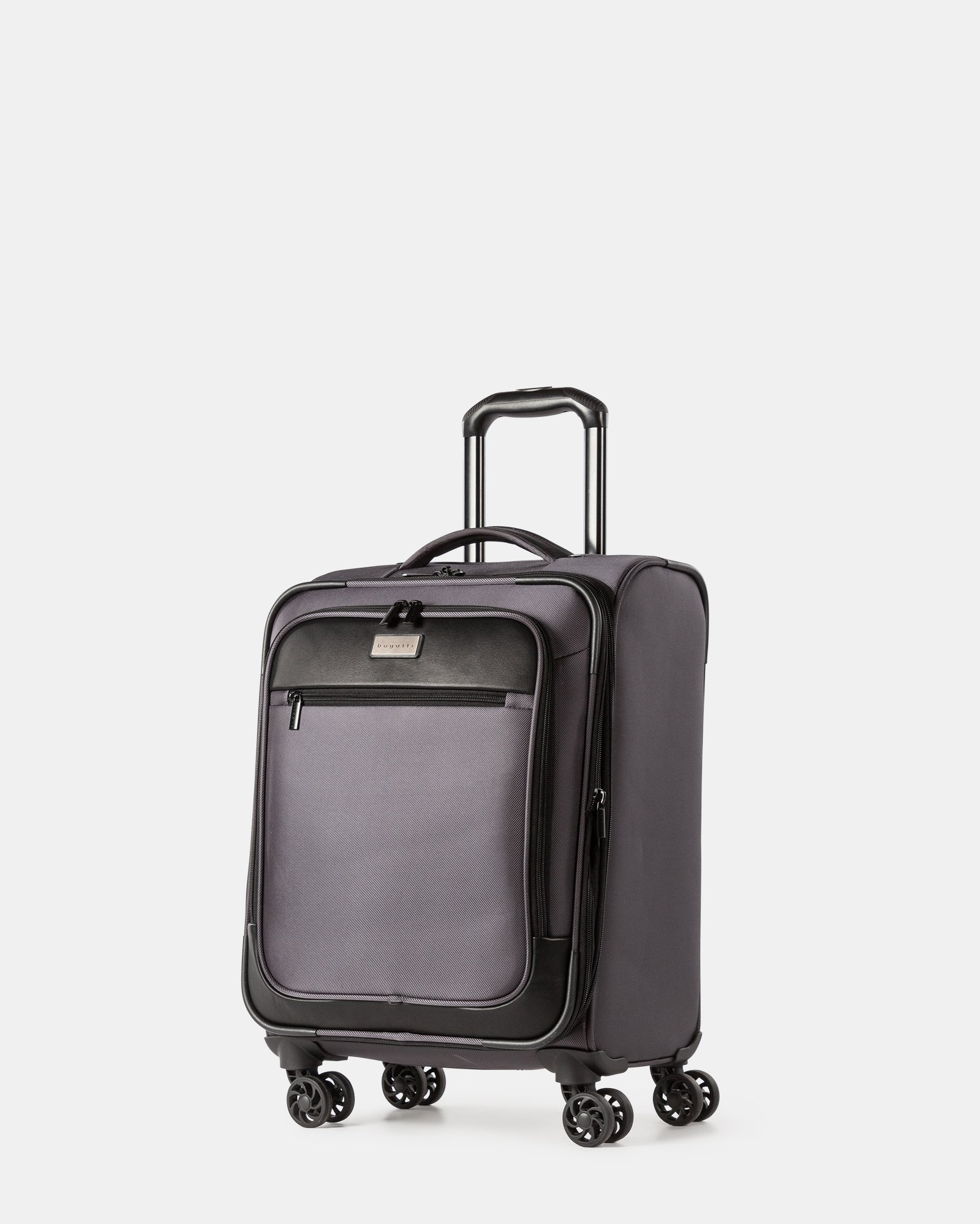 "Boston - Lightweight Softside Carry-on with 15.6"" laptop compartment - Charcoal - Bugatti - Zoom"