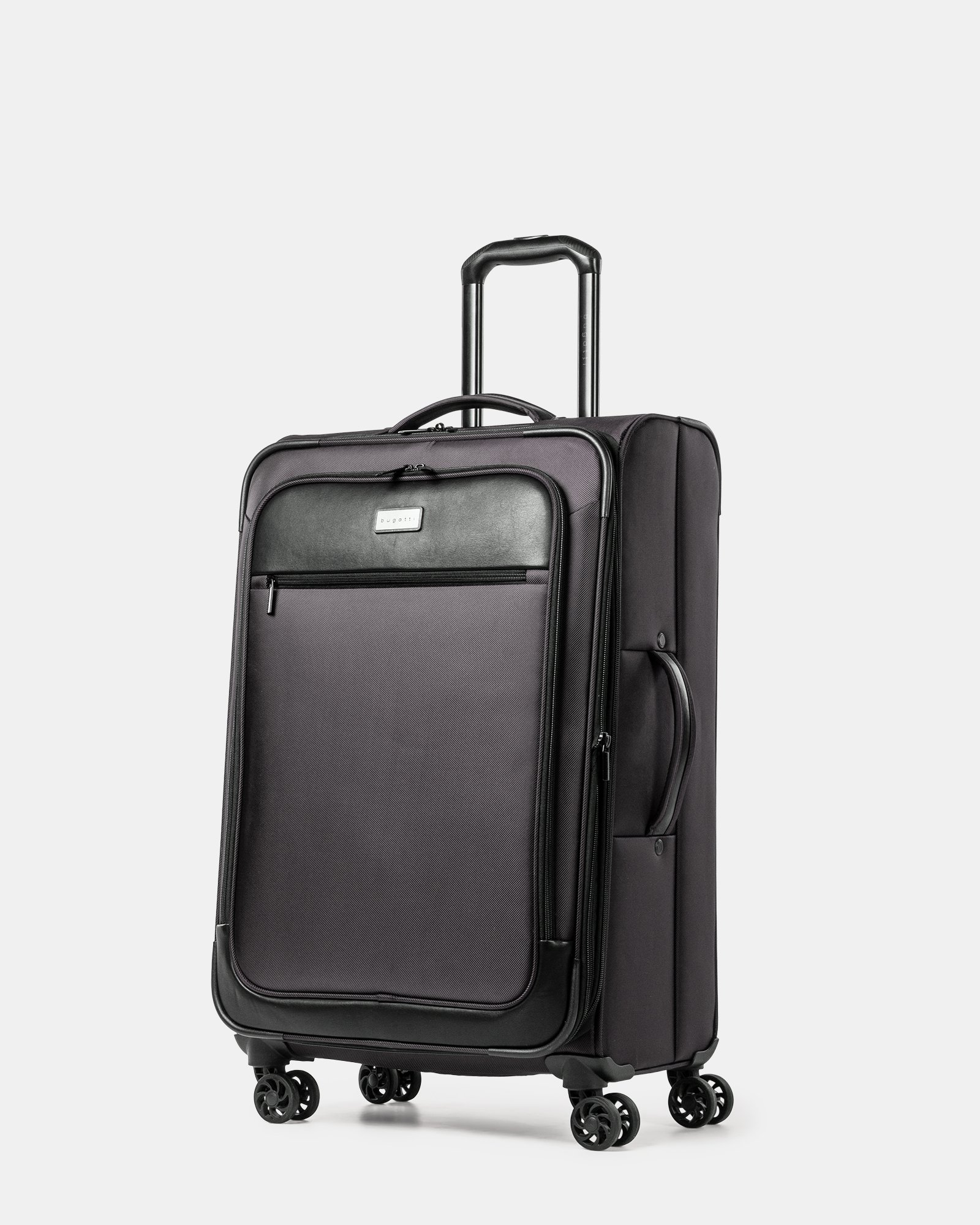 Boston - Lightweight Softside 24'' Luggage with Zipper-release expansion system - Charcoal - Bugatti - Zoom