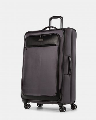 Boston - Lightweight Softside 28'' Luggage with Zipper-release expansion system - Charcoal Bugatti