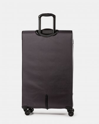 Boston - Lightweight Softside 28'' Luggage with Zipper-release expansion system - Charcoal - Bugatti