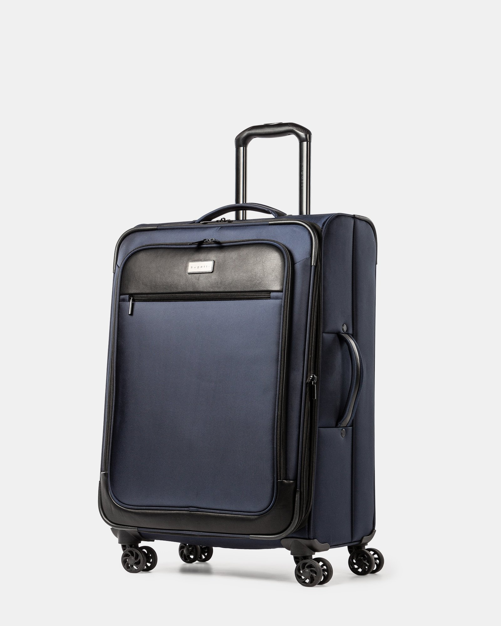 Boston - Lightweight Softside 24'' Luggage with Zipper-release expansion system - Navy - Bugatti - Zoom