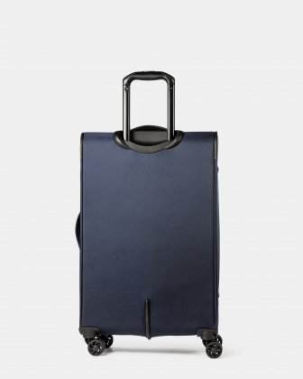 Boston - Lightweight Softside 24'' Luggage with Zipper-release expansion system - Navy - Bugatti