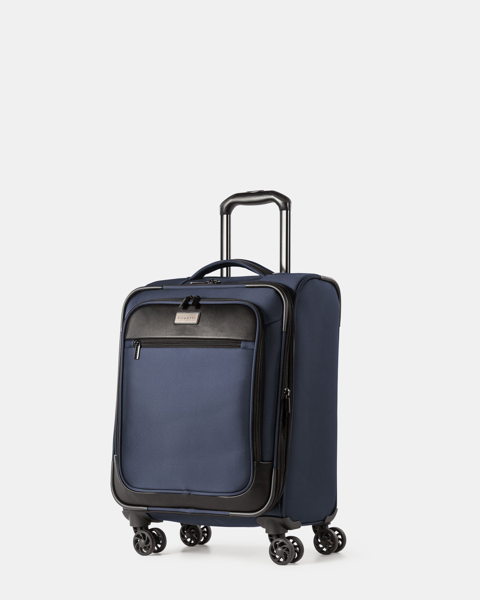 """Boston - Lightweight Softside Carry-on with 15.6"""" laptop compartment - Navy - Bugatti - Zoom"""