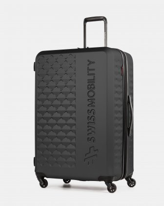 Ridge - Lightweight Hardside Luggage 28'' with Spinner wheels - Black Swiss Mobility