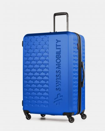 Ridge - Lightweight Hardside Luggage 28'' with Spinner wheels - Blue Swiss Mobility