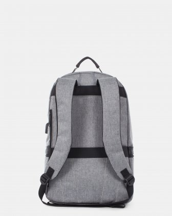 Sterling - Silm Backpack with USB port - Grey - Swiss Mobility