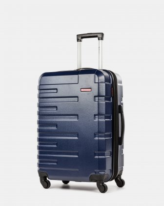 Quad - Lightweight Hardside Luggage 24'' with Spinner wheels - Blue Swiss Mobility