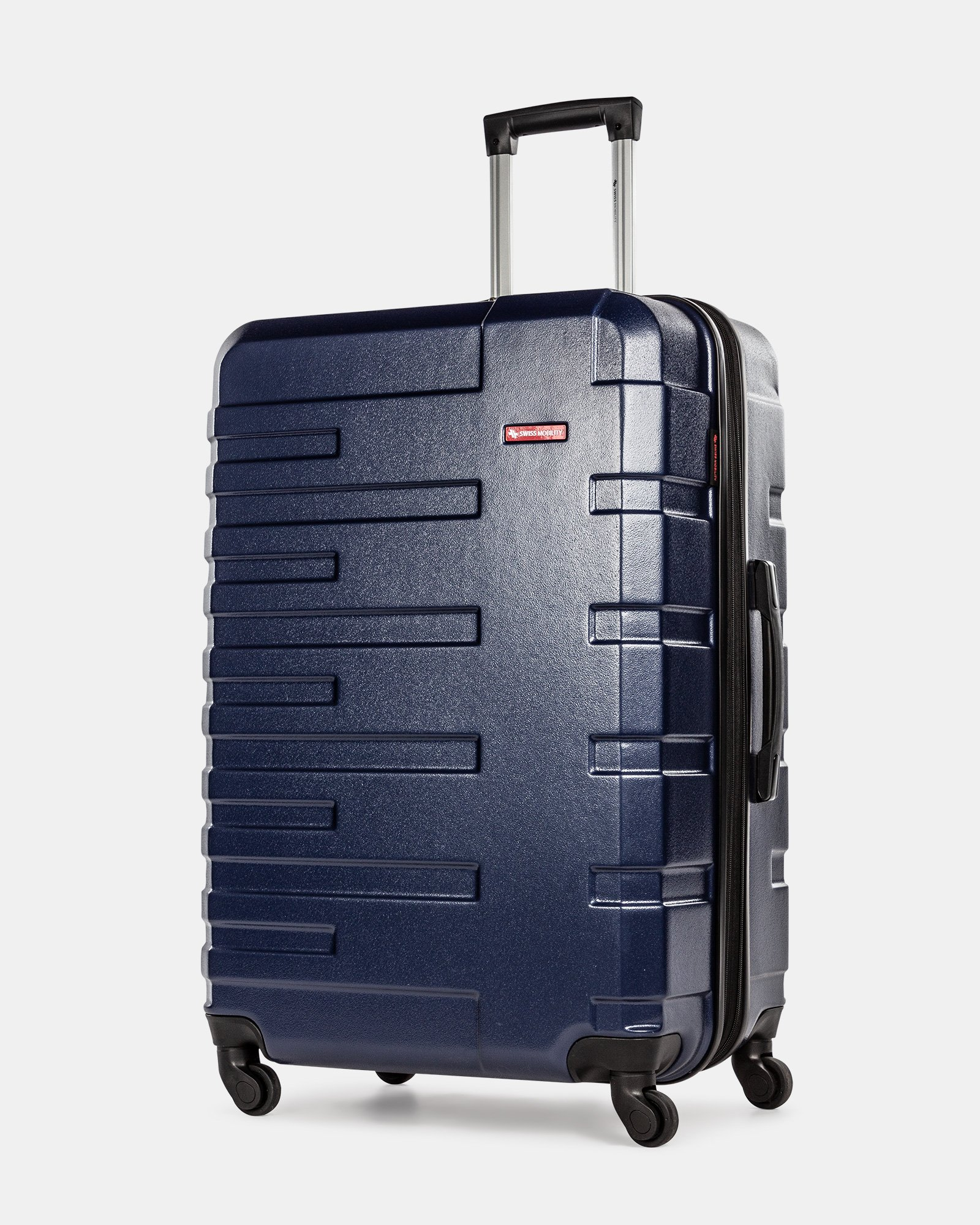 Quad - Lightweight Hardside Luggage 28'' with Spinner wheels - Blue - Swiss Mobility - Zoom