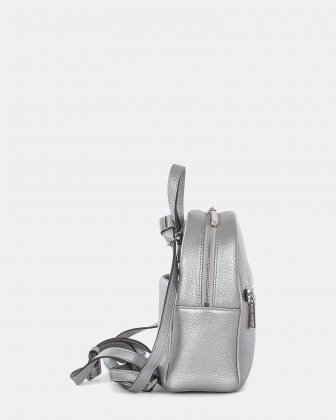 ADAGIO - LEATHER MINI BACKPACK - SILVER Céline Dion