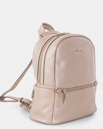 ADAGIO - LEATHER BACKPACK with Shoulder straps can be converted into a crossbody strap - ROSEGOLD Céline Dion