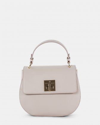 MINUET - LEATHER HANDLE BAG with Adjustable and removable strap - SAND Céline Dion