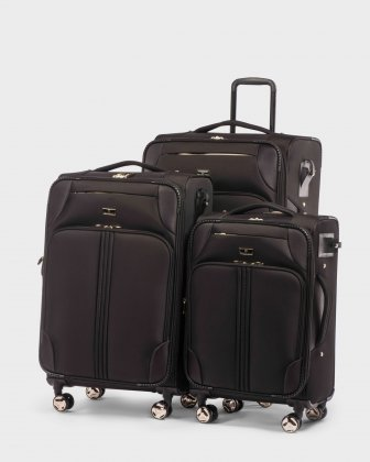TRIO - Three pieces luggage set WITH TSA LOCK - BLACK/GOLD Céline Dion