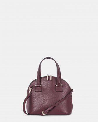 TRIAD - Small Leather SATCHEL Adjustable and removable strap - WinterWine Céline Dion