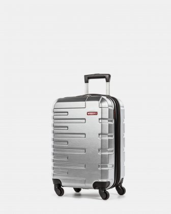 Quad - Lightweight Hardside Carry-on with Spinner wheels - Silver Swiss Mobility