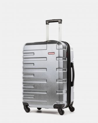 Quad - Lightweight Hardside Luggage 24'' with Spinner wheels - Silver Swiss Mobility
