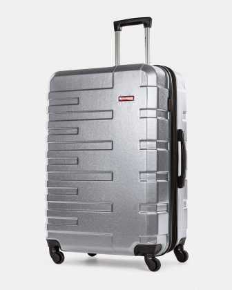 Quad - Lightweight Hardside Luggage 28'' with Spinner wheels - Silver Swiss Mobility